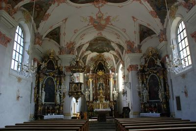 Frauenauer Kirche innen